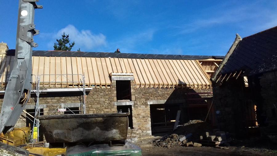 ITE des toitures en pente à Locmariaquer - Sarking sous tuile 1