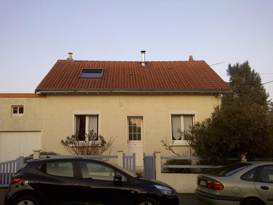 ITE toiture en pente à Nantes - sarking et couverture tuiles avant travaux