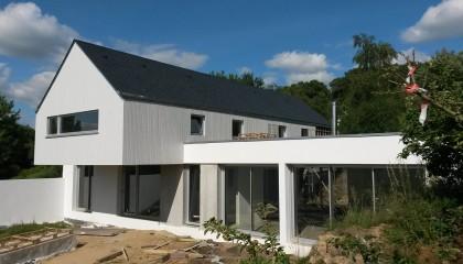Couverture ardoise et bardage bois à Baden 1