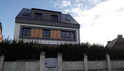 ITE toiture zinc et sarking à Erdeven 5