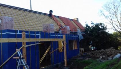 ITE des toitures en pente à Locmariaquer - Sarking sous tuile 3