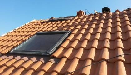 ITE toiture en pente à Nantes - Raccord de couverture autour des fenêtres de toit