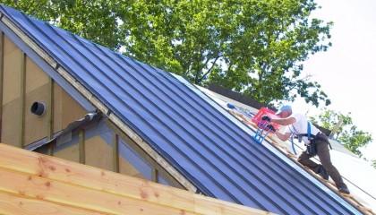 Isolation maison passive - couverture zinc 1